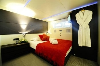 144' Berzinc yacht guest bedroom