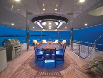 150' Excellence yacht al fresco dining