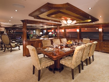 150' Excellence yacht dining