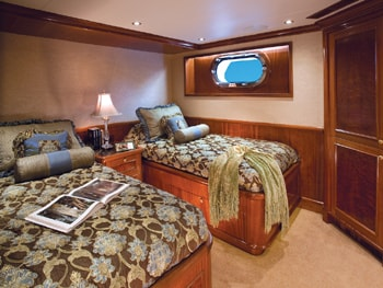 150' Excellence yacht twin bedroom