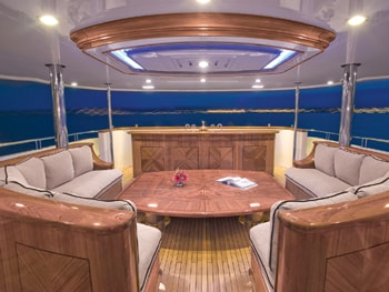 150' Excellence yacht deck