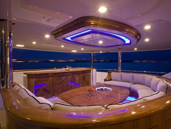 150' Excellence yacht deck seating