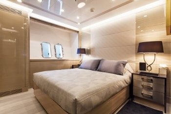 2014 164' Moonraker yacht guest stateroom