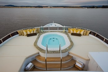 164' Silver Lining yacht jacuzzi