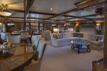 164' Silver Lining yacht living