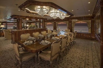 164' Silver Lining yacht dining