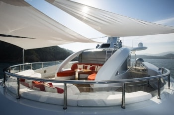 196' Excellence V yacht bow seating